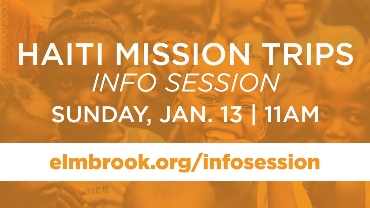 Haiti Mission Trips Info Session